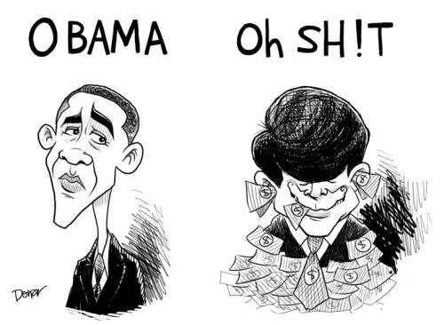 Blagojevich Obama political cartoon