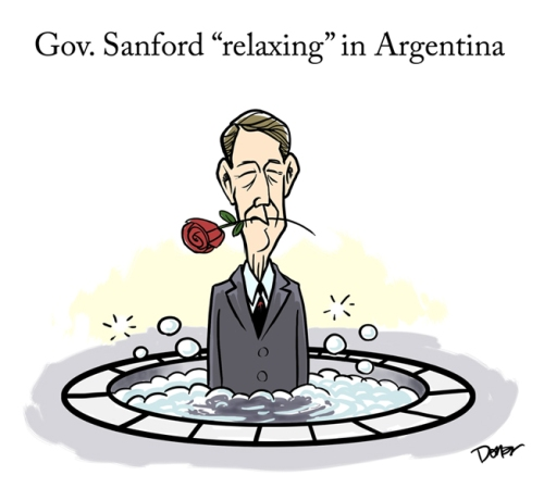south carolina governor sanford cartoon